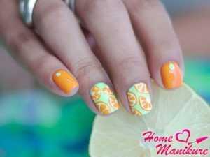Апельсин маникюр